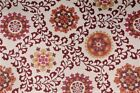 Uptown Fabric Richloom Upholstery Drapery Alango Tomato Jacquard Tapestry Floral
