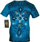 XTREME COUTURE by AFFLICTION Men T-Shirt LOYAL FOLLOWING Cross Biker MMA GYM $40 image