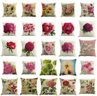 Floral Cotton Linen Square Home Throw Pillow Case Sofa Waist Cushion Cover Decor