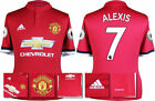 17 / 18 - ADIDAS ; MAN UTD HOME SHIRT SS + PATCHES / ALEXIS 7 = ADULTS