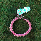 HOTI Hemp Handmade Pink Roach Clip Chainmaille Chain Maille Link Bracelet NWT