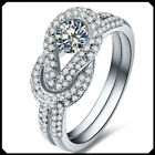 Luxury Round 0.45CT Synthetic Lab Diamond Platinum PT950 White Gold Wedding Ring
