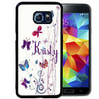 PERSONALIZED RUBBER CASE FOR SAMSUNG S8 S7 S6 S5 EDGE PLUS COLORFUL BUTTERFLIES
