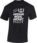 Awesome Model Aircraft Pilot T-shirt New Funny Gift Ideal Sport Flying Mens