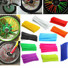 bicycle wheel spoke covers - US Bike Motorcycle Wheel Spoke Trim Covers Pipe Pit Dirt Wraps Skins Coat 36Pcs