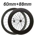 23mm Width 60+88mm Clincher Carbon Wheels Standard Wheel Racing Touring Wheels