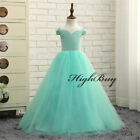 Flower Girl Dresses Tulle First Communion Dresses for Girls Formal Party Gown