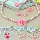 Girls Gift Princess Baby Beads Necklace Bracelet Ring Cute Set Jewelry x 1