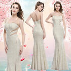 Sexy Women's Long Formal Mermaid Pageant Prom Gown Evening Cocktail Dress 08821