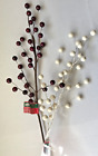 "24"" Red or White Ball Floral Picks Gr8t for Wreaths ~Valentine's"