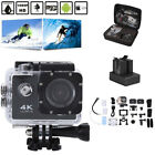 4K Action Camera HD Sports Camera Wifi Waterproof Helmet+Remote Gopro DV bag-USA