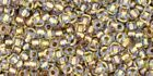 Japanese TOHO 11/0 Seed Beads,  #262, Inside-Color Crystal/Gold-Lined