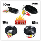 10M-60M BNC Video Data Power CCTV DC Security Camera DVR Record Extension Cable