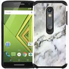Marble Design Hybrid Case Cover for Motorola Moto X Style / Moto X Pure Edition
