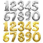 Large 81cm Gold Number Balloons 1, 2, 3, 4, 5, 6, 7, 8, 9, 0