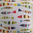 CUSHION COVERS MULTI COLOURED TUTTI FRUTTI SARDINES FUNKY FISH STYLISH COVERS