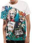 Official Harley Quinn Graffiti T-shirt Sublimation SUICIDE SQUAD Mens White image