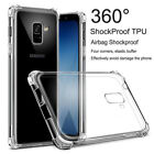 For Samsung Galaxy A5 A6 A7 A8+ 2018 Clear Shockproof 360° Slim TPU Cover Case