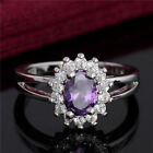 GENUINE SILVER 925 FORGET ME NOT AMETHYST COLOUR CLUSTER RING SIZE LIMITED SALE