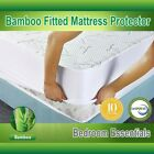 Mattress Protector Waterproof Bamboo Hypoallergenic Fitted Mattress Cover LOT image