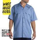 DICKIES SHIRT 1574 MENS SHORT SLEEVE WORK SHIRT BUTTON FRONT FORMAL WORK UNIFORM