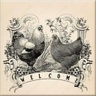 Rooster Vintage  Welcomme Image Decorative Wall Ceramic Tile  4.25 or 6  In #1