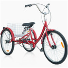 "3 Wheel Bicycle Adult Tricycle Trike Cruise Travel Bike Aluminum Frame 26"" Tire"