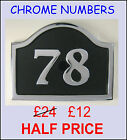 CHROME & BRASS  HOUSE NUMBER SIGNS - any No. from 1-99