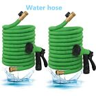 Deluxe Expanding Flexible Garden Water Hose 50' 75' Brass Connectors+Spray Gun