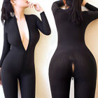 Внешний вид - Women Sexy Lingerie Zipper Bodysuit Nightgown Clubwear Nightwear Jumpsuit Romper