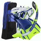 U.S. Divers Admiral Snorkeling Set - Mask, Trek Fins, Dry Snorkel + Gear Bag