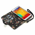 For Samsung Galaxy Note 3 N9000 Floral Design PU Leather Wallet Case Cover