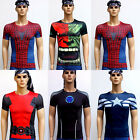 Mens Compression Armour Base Layer Top Superhero T-Shirt Under Skin Shorts Pants