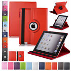 Luxury PU Leather Smart Cover 360 Ratating Holder Case For iPad Air