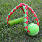 Durable Webbing Rope Tug Toy w/ TPR Handle and Tennis Ball Dog Tug of War Play
