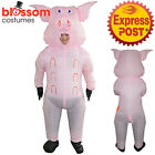 K354 Inflatable Pig Animal Fan Operated Cosplay Fat Masked Suit Costume Blow Up