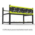 Veddha 6/8 GPU Mining Frame Stackable Aluminum Crypto Open Air Mining Rig Case