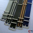 BOND Watch Straps 007 Military Diver NSN Style 20mm 18mm Nylon Band SS Hardware $9.99 USD