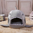 Shark Mouth Pet Bed Cute Warm Dog Cat House Doggy Puppy Bed Kennel Cushion Pad