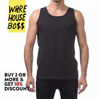 PROCLUB MENS PLAIN TANK TOP CASUAL MUSCLE T SHIRT SLEEVELESS SHIRTS GYM HIP HOP