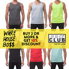 PROCLUB MENS TANK TOP MUSCLE T SHIRT GYM SLEEVELESS SHIRTS PLAIN SOLID HIP HOP