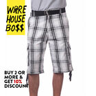 PROCLUB PRO CLUB MENS CASUAL CARGO SHORTS PLAID SHORTS PLAIN CAMO BDU ARMY SOLID <br/> *BUY 2 OR MORE & GET 10% DISCOUNT* BUY WITH CONFIDENCE
