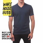 PROCLUB PRO CLUB MENS CASUAL V-NECK T SHIRT PLAIN SHORT SLEEVE SHIRTS COTTON TEE