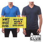 PROCLUB PRO CLUB MENS CASUAL V NECK T SHIRT PLAIN SHORT SLEEVE SHIRTS COTTON TEE