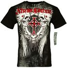 XTREME COUTURE by AFFLICTION Men T-Shirt DEATH DANCE Wing Biker MMA Gym M-4X $40