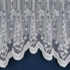 Luxury Lace Net Curtain Jardiniere White / Cream Ready Made Cheap / Free Postage