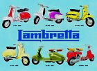 RETRO METAL PLAQUE : Lambretta 1948 - 1970 sign/ad