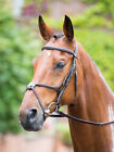 Shires Rossano Grackle bridle  + Rubber reins ALL SIZES