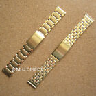 Mens Gold Plated SS Adjustable Deployment Watch Strap Bracelet Band 20mm 22mm