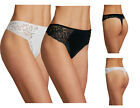 MARKS AND SPENCER COTTON BLEND SIDE LACE THONG M&S COLLECTION BLACK & WHITE
